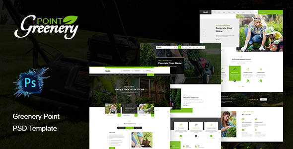 Greenery Point – Lawn, Landscaping & Gardening PSD Template        TFx Oswin Balam