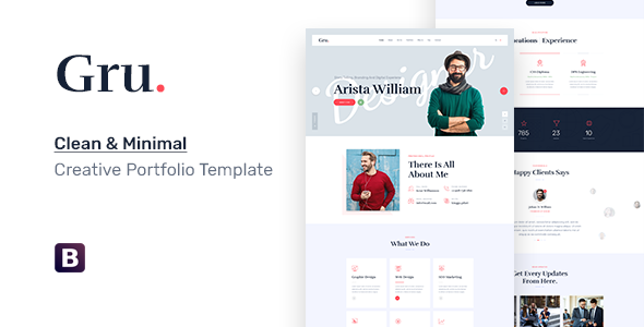 Gru - One Page Personal Portfolio HTML5 Template        TFx Ashton Jackson