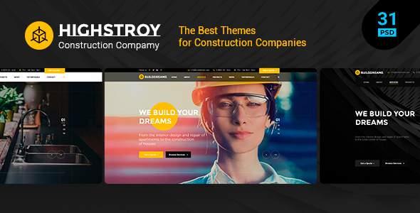 HIGSTROY | Construction & Architecture PSD Template        TFx Stuart Geffrey