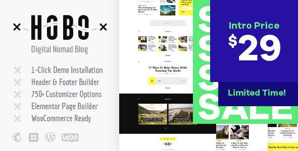 Hobo | Digital Nomad Lifestyle Blog WordPress Theme        TFx Lucan Beauregard
