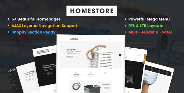HomeStore – Modern, Minimal & Multipurpose Shopify Theme with Sections        TFx Cheyenne Tristram
