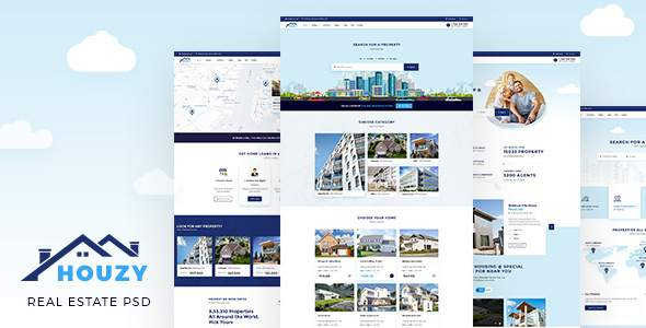 Houzy | Real Estate Listing PSD Template        TFx Tyron Timothy