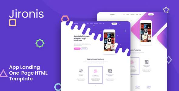 Jironis - App Landing One Page HTML Template        TFx Payton Ford