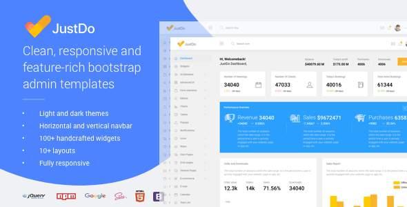 JustDo - Responsive Bootstrap Admin Template        TFx Indigo Blair