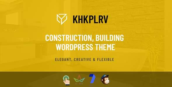 Khkplrv -Construction, Building WordPress Theme        TFx Freeman Elvin