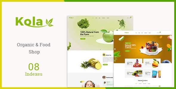 Kola - Organic & Food WooCommerce WordPress Theme        TFx Sam Dan