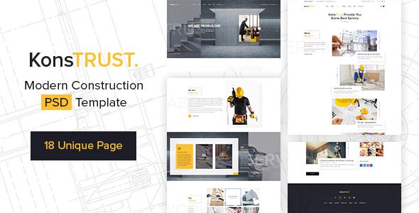 KonsTrust - Construction Building Company PSD Template        TFx Mick Aloysius