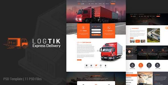 Logtik | Logistics PSD Template        TFx Odeserundiye Timothy