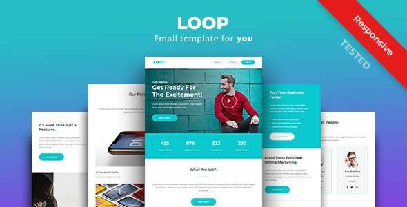 Loop - Multipurpose Responsive Email Newsletter Template        TFx Jere Johnathon