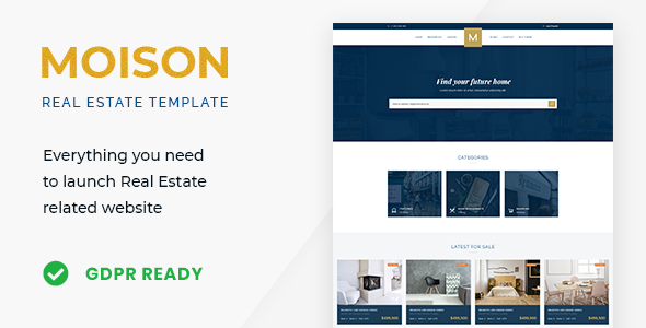 Moison - Luxury Real Estate Template        TFx Roderick Alfie