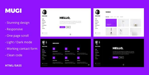 Mugi - Personal Portfolio & Resume HTML Template        TFx Timmy Logan