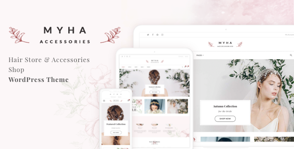 Myha - Hair Store & Accessories Shop WordPress theme        TFx Eben Harvey