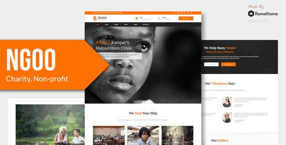 NGOO - Charity, Non-profit, and Fundraising HTML Template        TFx Harve Ara