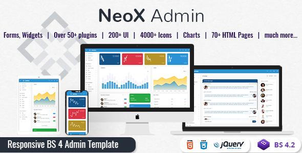 NeoX - Responsive Admin Dashboard Template        TFx Cleo Xerxes