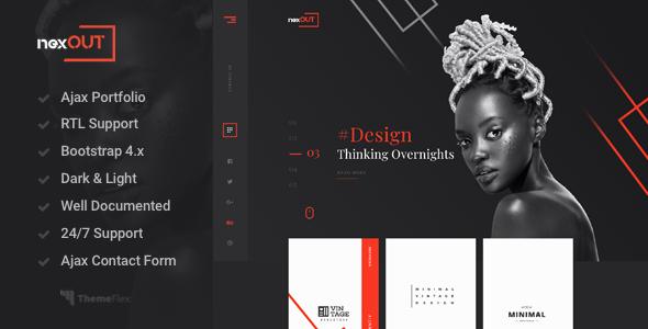 Nexout - Creative Ajax Portfolio Template        TFx Kody Jessie