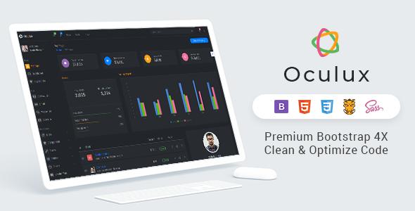 Oculux - Bootstrap 4x Admin Dashboard Clean & Modern ui kit        TFx Blythe Billy