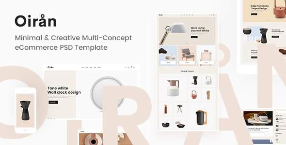 Oiran - Minimal & Creative Multi-Concept eCommerce PSD Template        TFx Buck Emerson