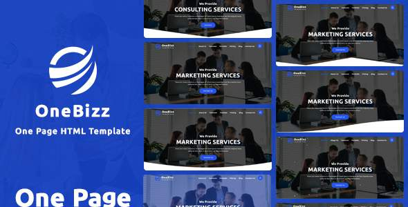 OneBizz- One Page HTML Template        TFx Ezra Morty