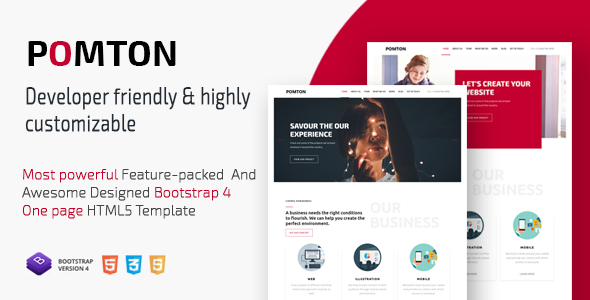 POMTON - Onepage Creative HTML5 Template.        TFx Jimmie Montgomery