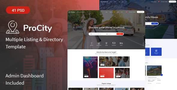 Procity - Multiple Listing & Directory PSD Template        TFx Jason Rolland
