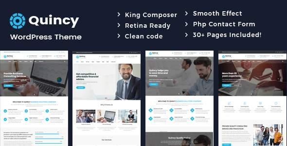 Quincy - Business Consulting WordPress Theme        TFx Aleksandr Reynard