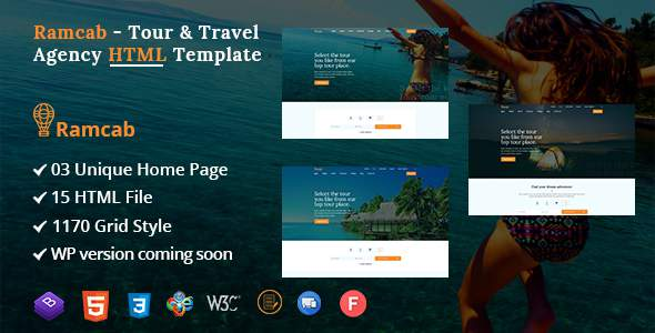 Ramcab - Tour & Travel Booking Bootstrap4  HTML Template        TFx Irnerius Giles