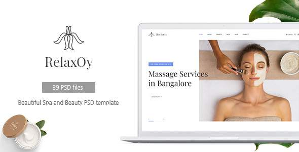 RelaxOy - Spa & Beauty PSD Template        TFx Hideyoshi Lake