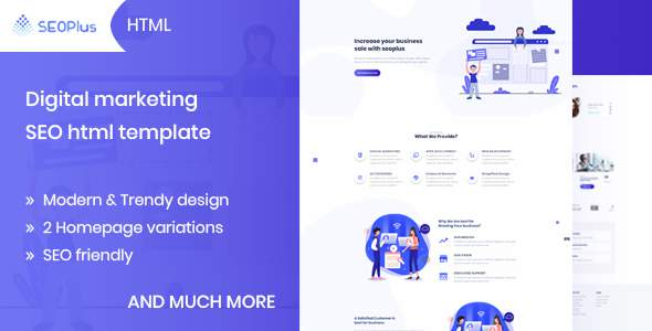 SEOPlus – Digital Marketing & SEO Template        TFx Connor Delroy