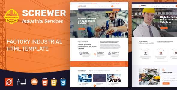 Screwer - Factory & Industrial Business HTML Template        TFx Takuma Heath