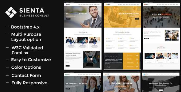 Sienta - Business Consulting and Corporate WP Theme        TFx Gary Takuya