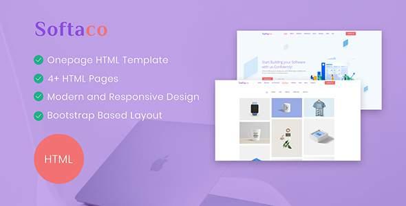 Softaco – Onepage HTML Template        TFx Haig Ripley