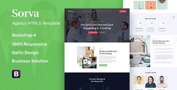 Sorva - Agency Landing Page HTML5 Template        TFx Logan Plutarch