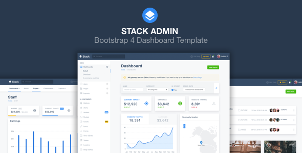 Stack Admin – Bootstrap 4 Dashboard Template        TFx Ryouta Zed