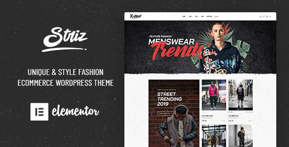 Striz - Fashion Ecommerce WordPress Theme        TFx Peers Seymour