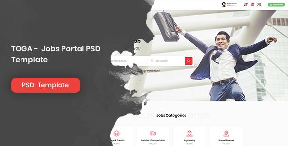 TOGA - Jobs Portal PSD Template        TFx Huey Wayra