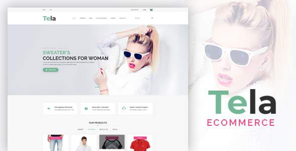 Tela – Fashion eCommerce PSD Template        TFx Archie Ritchie