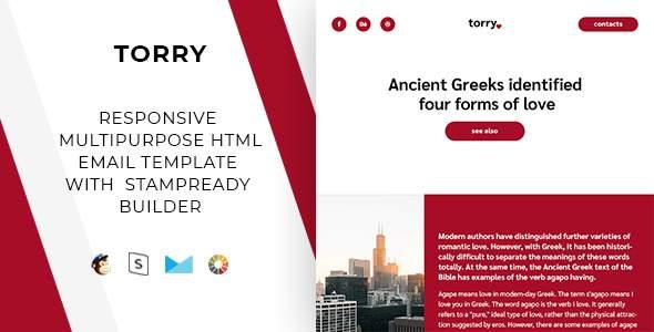 Torry – Responsive Email + StampReady Builder & Mailchimp        TFx Fulk Daishu