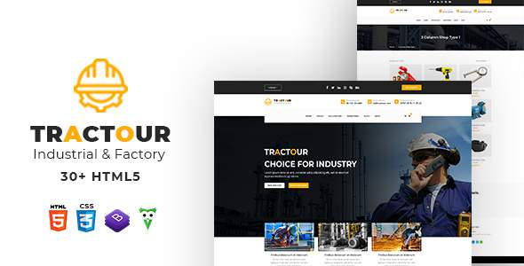 Tractour – Industrial/ Manufacturing HTML5 Template        TFx Faron Neal
