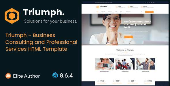 Triumph – Business Consulting and Professional Services Drupal 8.6.4 Theme        TFx Chile Micheal