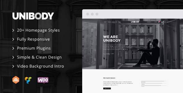 UniBody - Elegant Business WordPress Theme        TFx Nic Finley