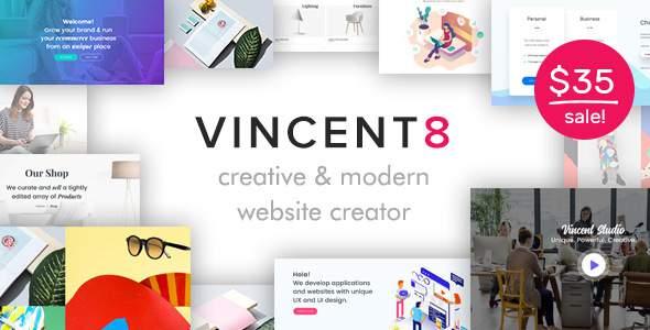 Vincent Eight | Responsive Multipurpose WordPress Theme        TFx Sho Clancy