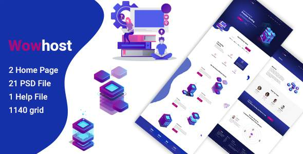 Wowhost - Hosting Business PSD Template        TFx Sherwood Elvin