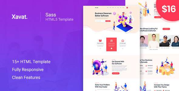 Xavat - Startup Agency and SasS Business Template        TFx Dominick Royce