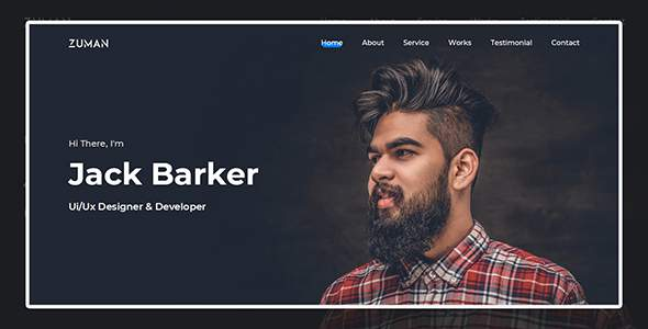 Zuman - Creative Personal Portfolio        TFx Jackson Gene