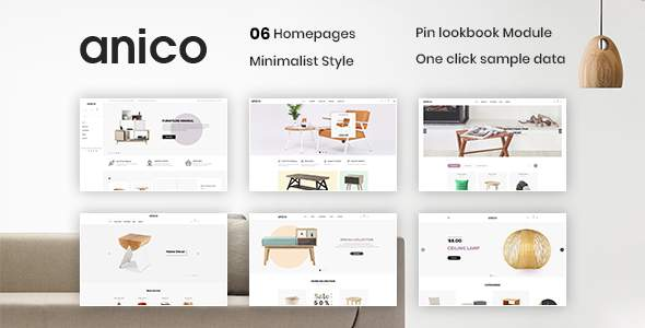 Anico – Minimalist Style PrestaShop 1.7 Theme For Furniture, Decor, Interior        TFx Red Corwin