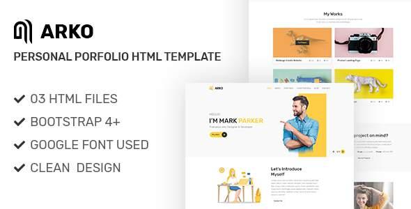 Arko - Personal Portfolio HTML Template        TFx Leslie Stacey