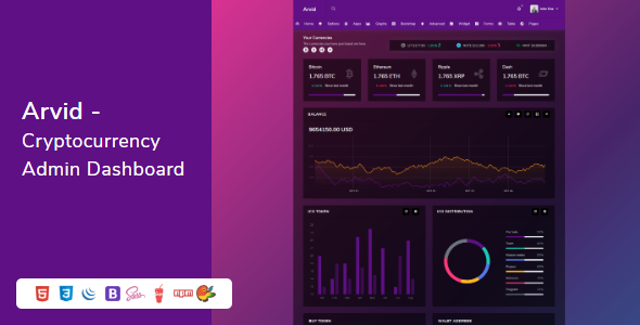 Arvid - Bootstrap Cryptocurrency Admin Dashboard HTML Template        TFx Baz Davie