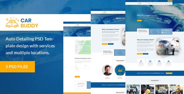 AutoBuddy - Car Wash & Detailing Center PSD Template        TFx Alf Leopold