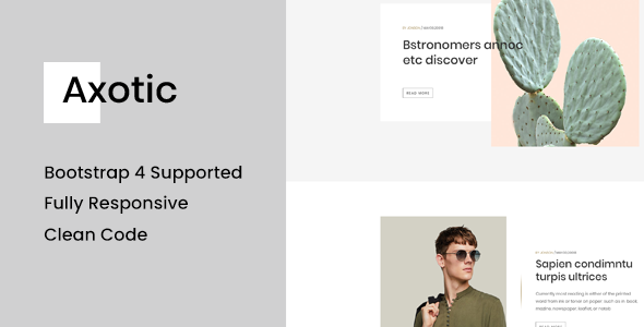 Axotic – Multipurpose Ghost Blog Theme        TFx Bryson Harland