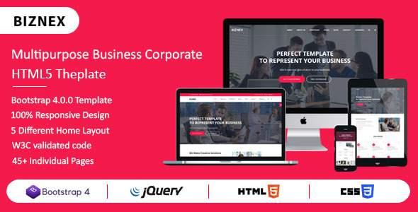 BIZNEX - Multipurpose Business And Corporate HTML5 Template        TFx Toros Goro
